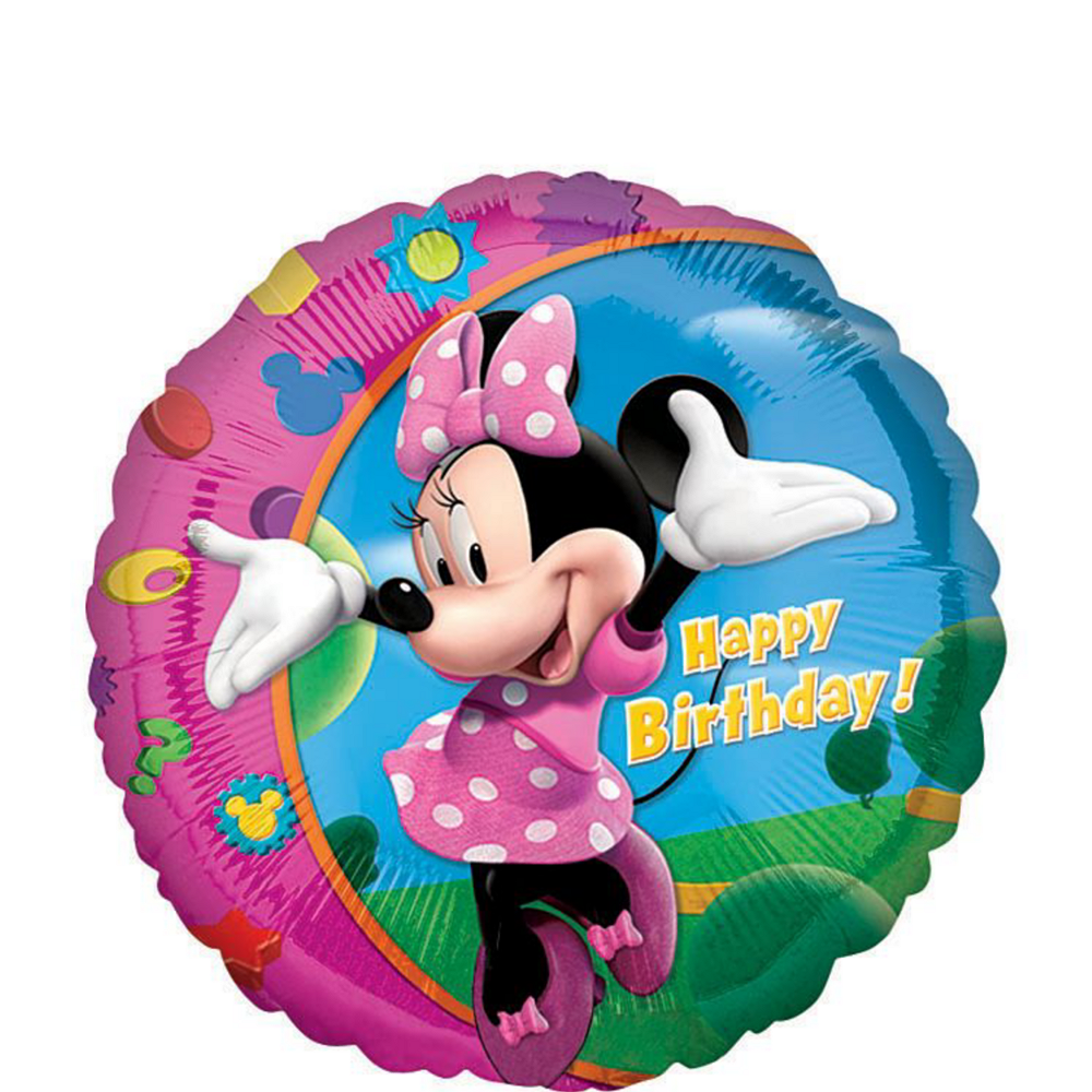 Nav Item for Minnie Mouse 1st Birthday Balloon Bouquet 5pc Image #2