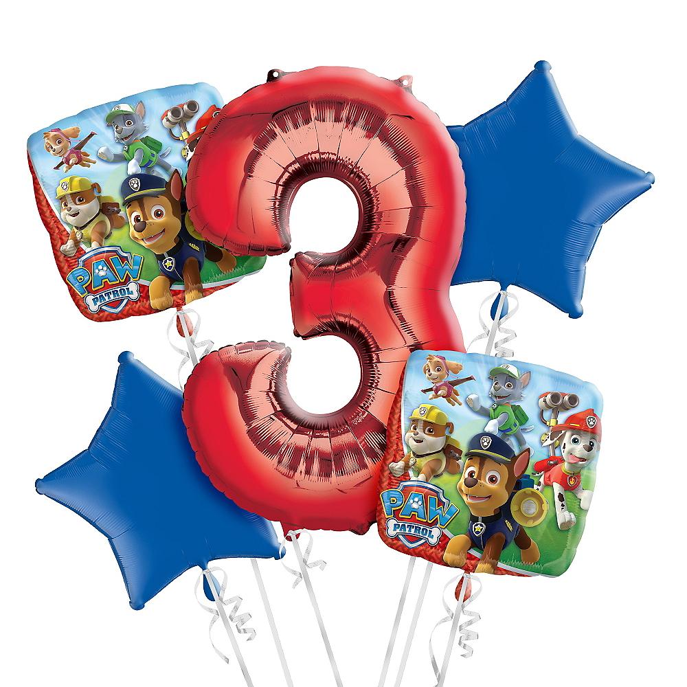 PAW Patrol 3rd Birthday Balloon Bouquet 5pc Image #1
