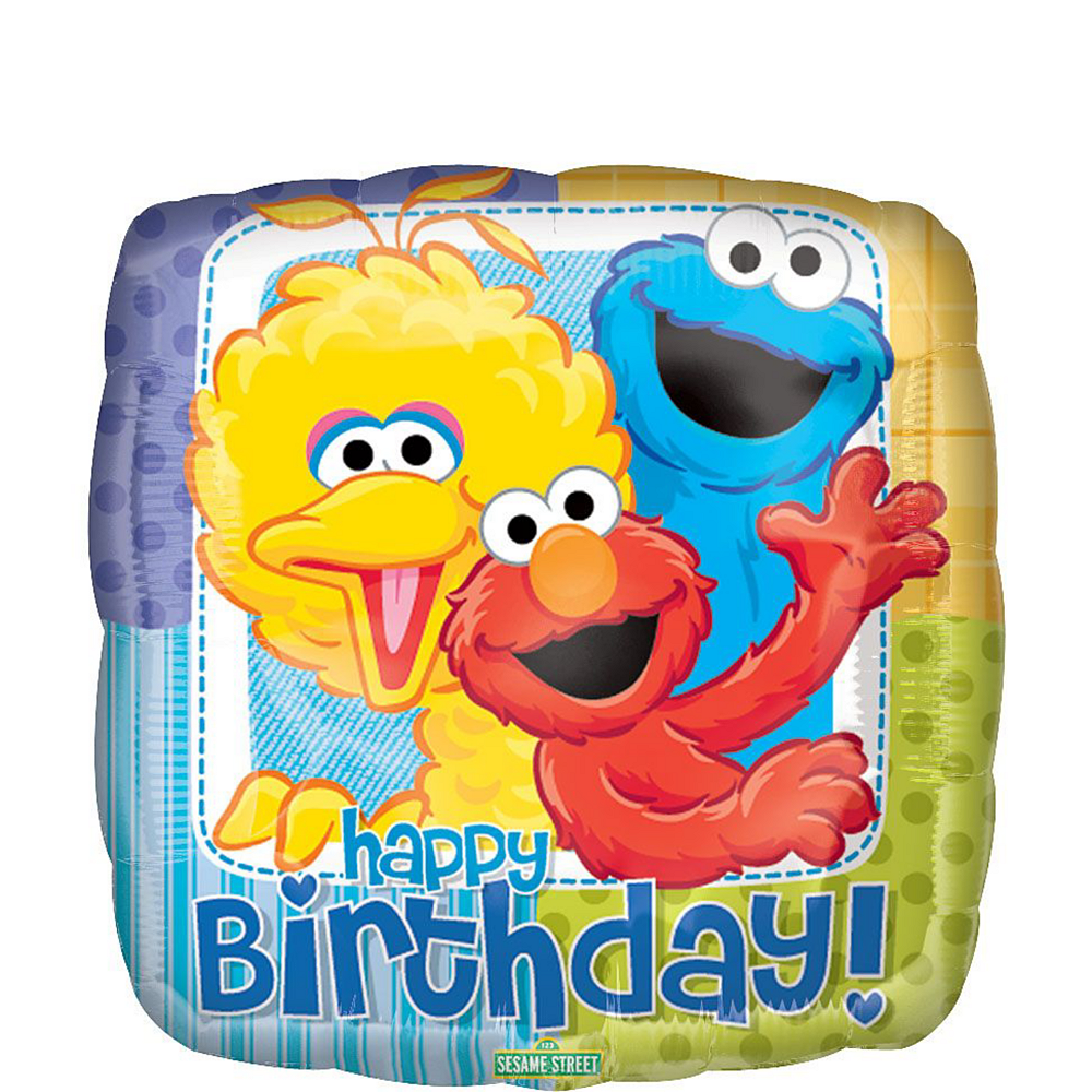 Sesame Street 3rd Birthday Balloon Bouquet 5pc Image #2