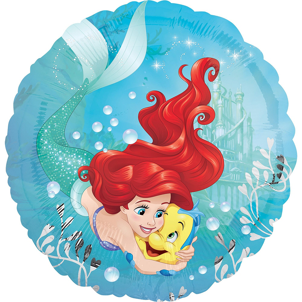 Little Mermaid 5th Birthday Balloon Bouquet 5pc Image 4