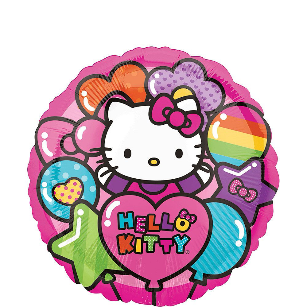 Nav Item For Rainbow Hello Kitty 3rd Birthday Balloon Bouquet 5pc Image 3