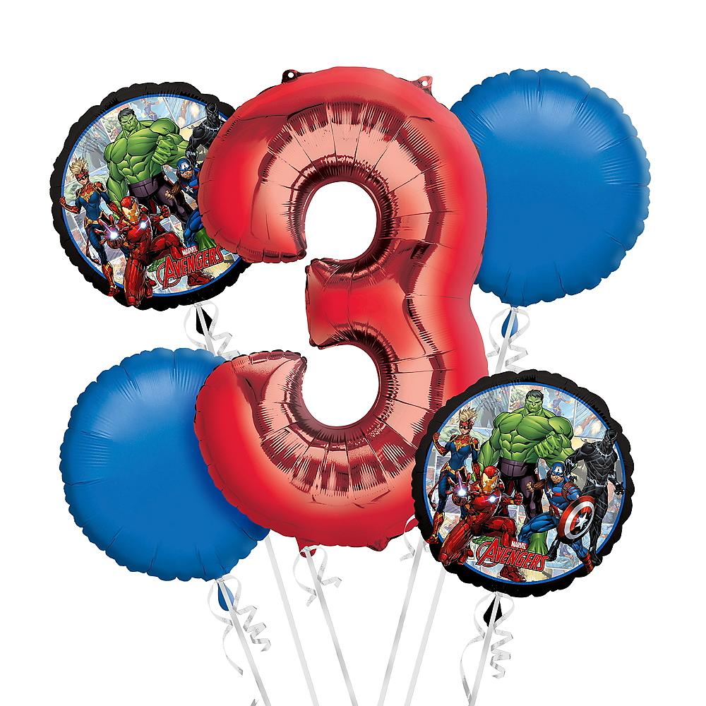 Avengers 3rd Birthday Balloon Bouquet 5pc Image #1