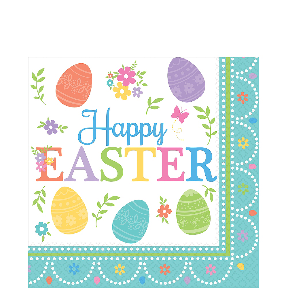 Egg-citing Easter Lunch Napkins 16ct Image #1