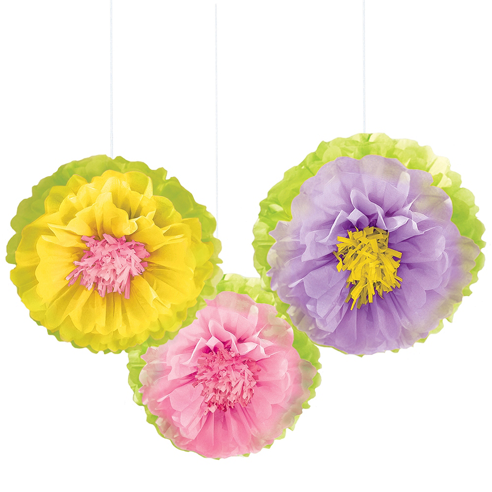 Nav Item for Spring Flower Tissue Pom Poms 3ct Image #1