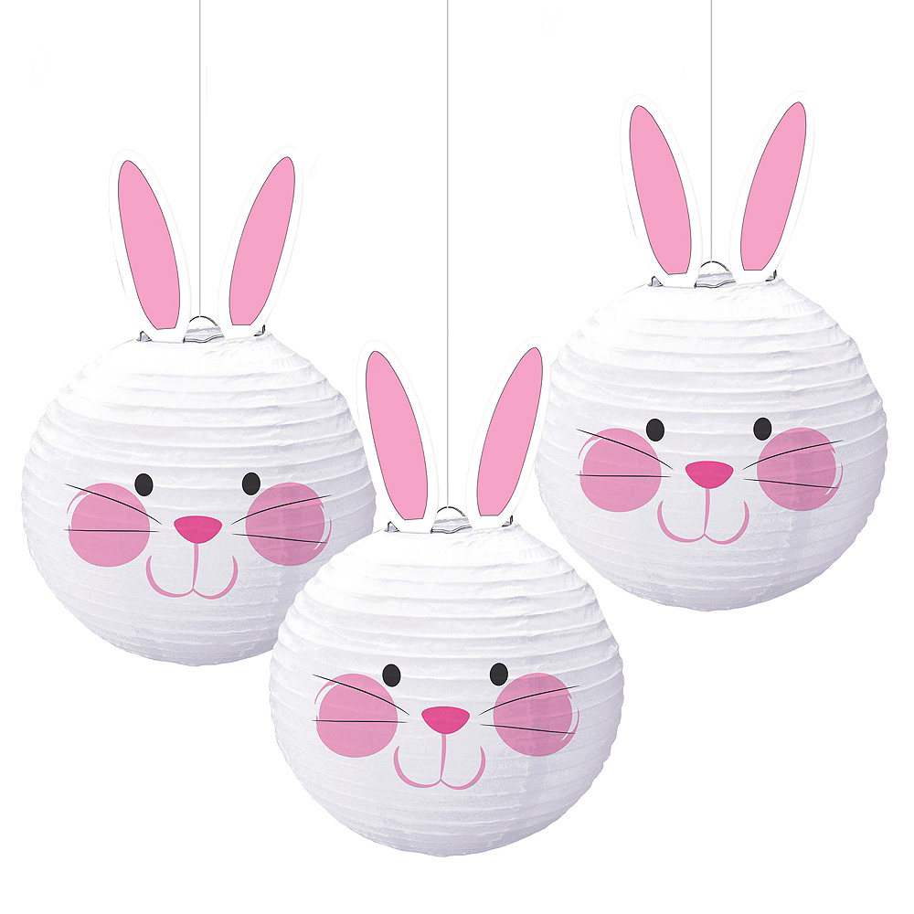 Nav Item for Easter Bunny Paper Lanterns 3ct Image #1