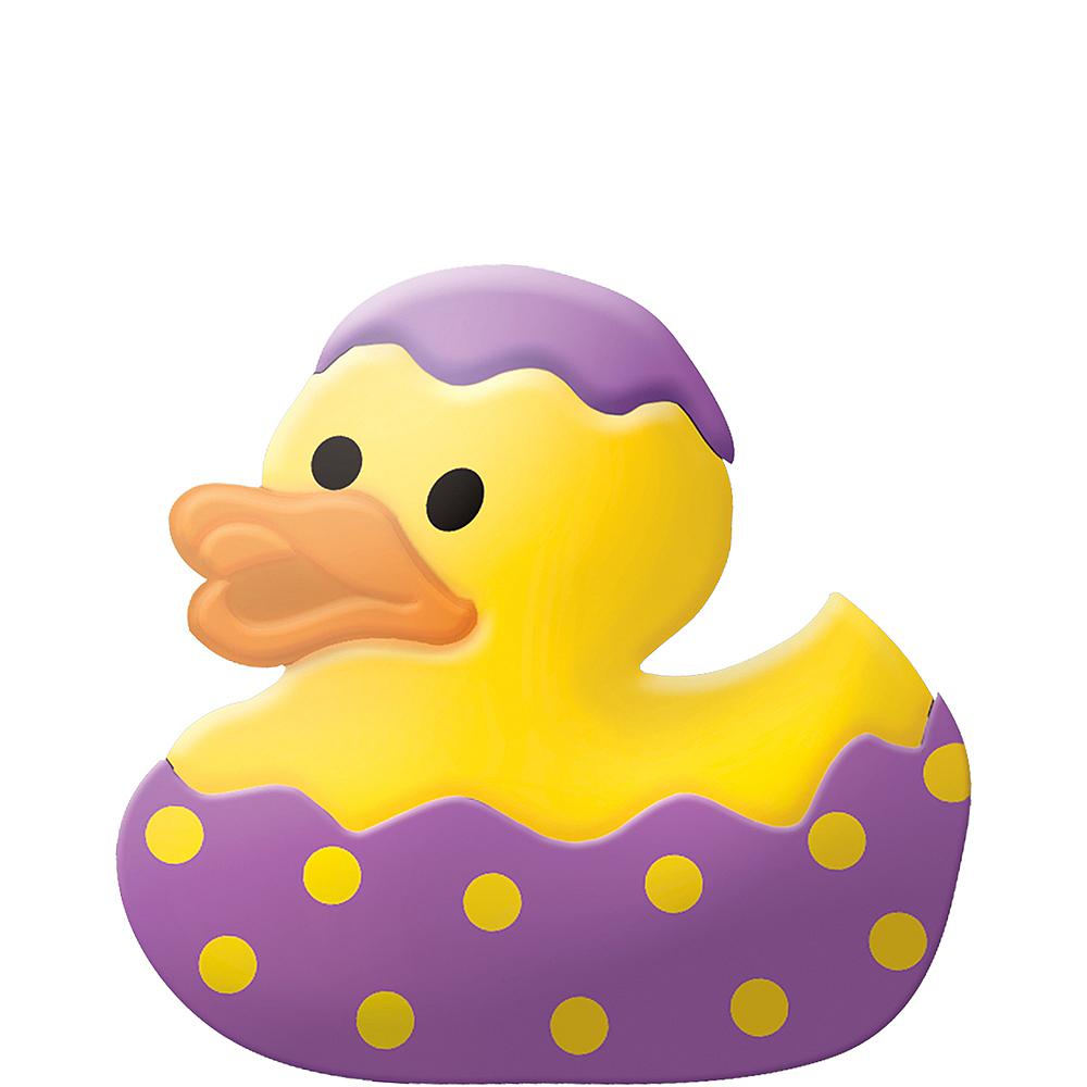 Purple Easter Egg Rubber Duck Image #1
