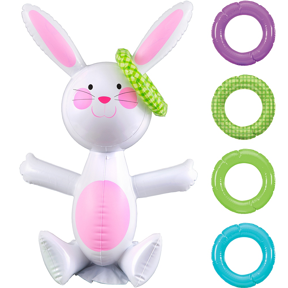 Inflatable Easter Bunny Ring Toss Image #1