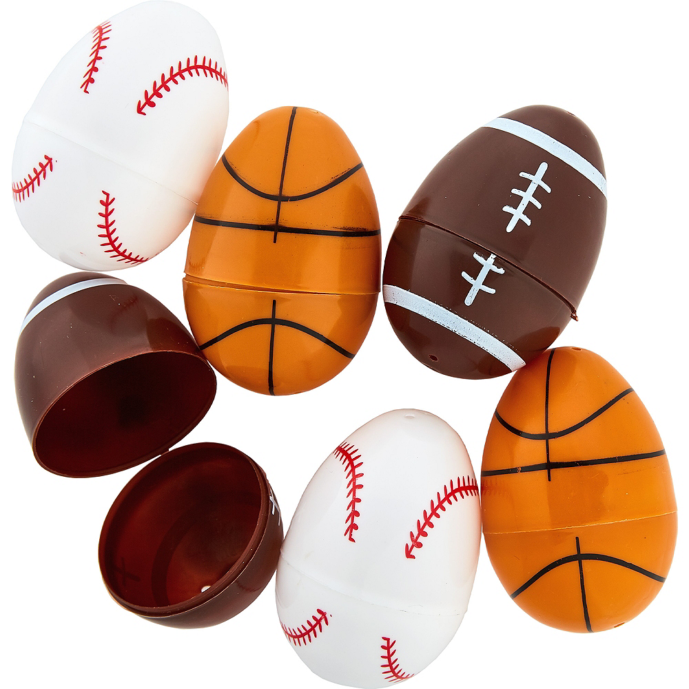 Sports Ball Easter Eggs 6ct Image #1