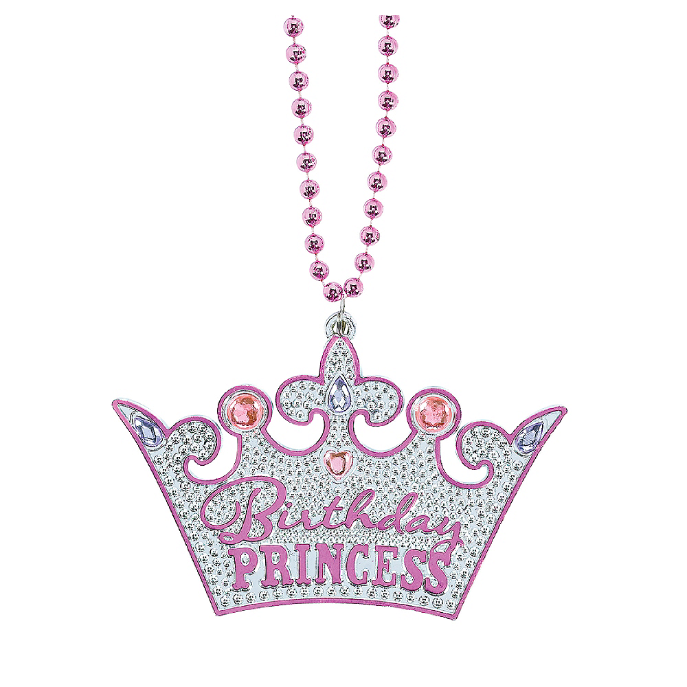 Birthday Princess Crown Birthday Necklace Image #1