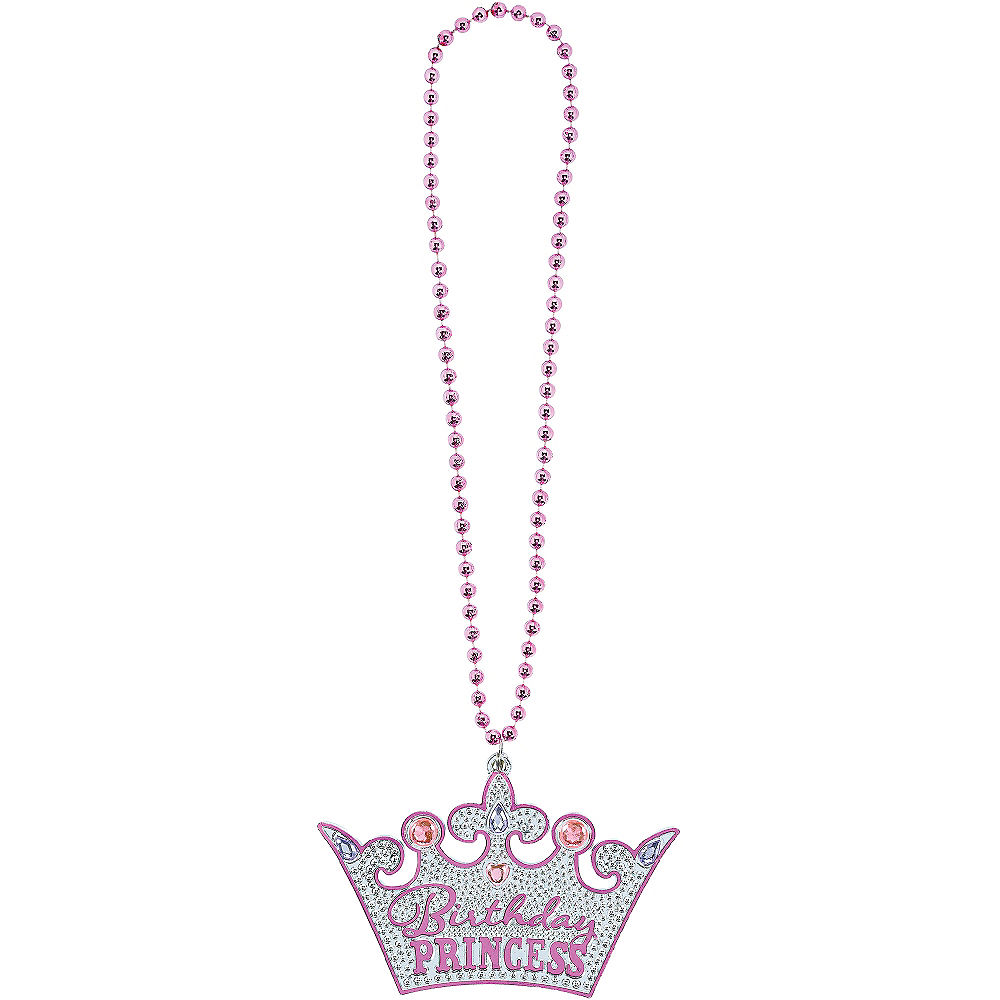 Birthday Princess Crown Birthday Necklace Image #2