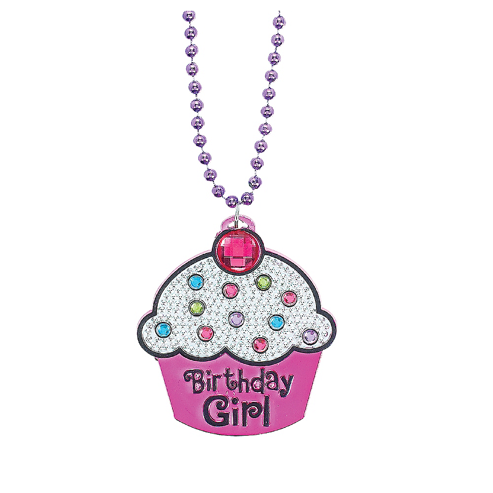 Birthday Girl Cupcake Birthday Necklace Image #1