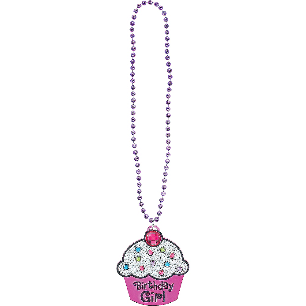 Birthday Girl Cupcake Birthday Necklace Image #2