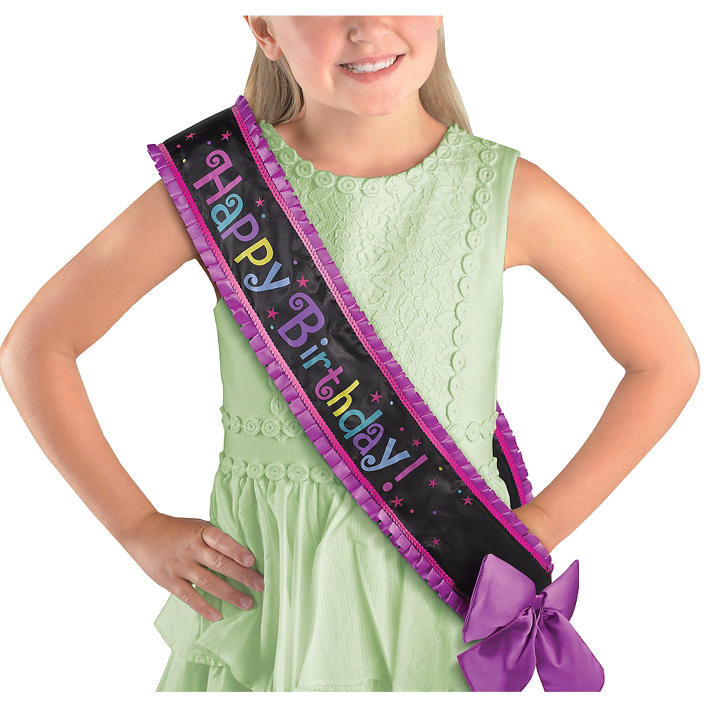 Nav Item for Purple Birthday Sash Deluxe Image #1