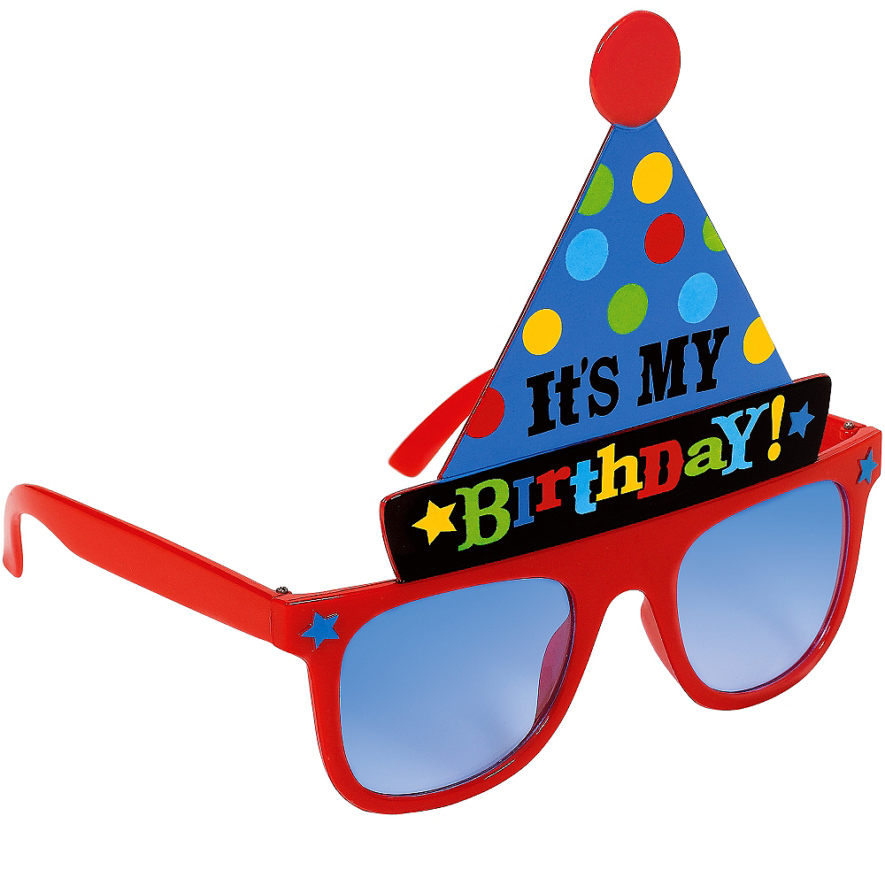 Bright Birthday Party Hat Sunglasses Image #2