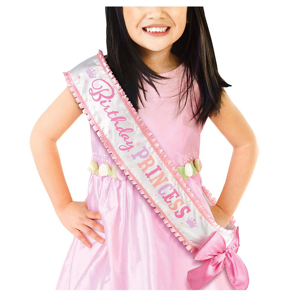 Pink Birthday Princess Sash Deluxe Image 1