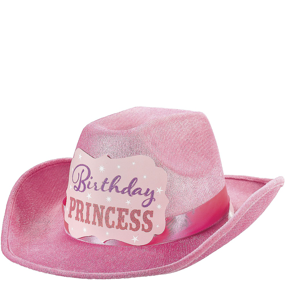 Pink Birthday Princess Cowboy Hat Image #1