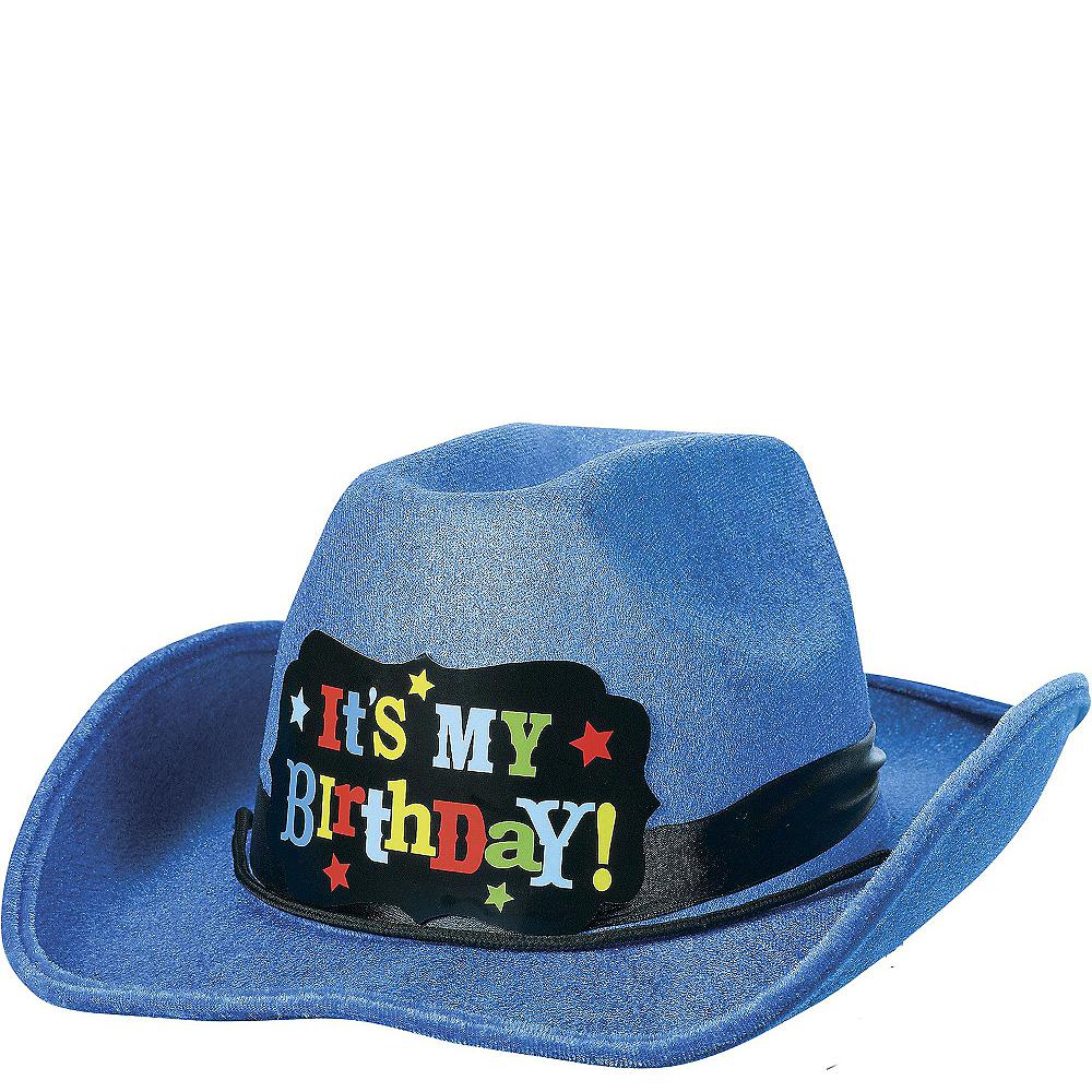 Blue Birthday Cowboy Hat 11in x 13 1 2in  cb5cf1528c3