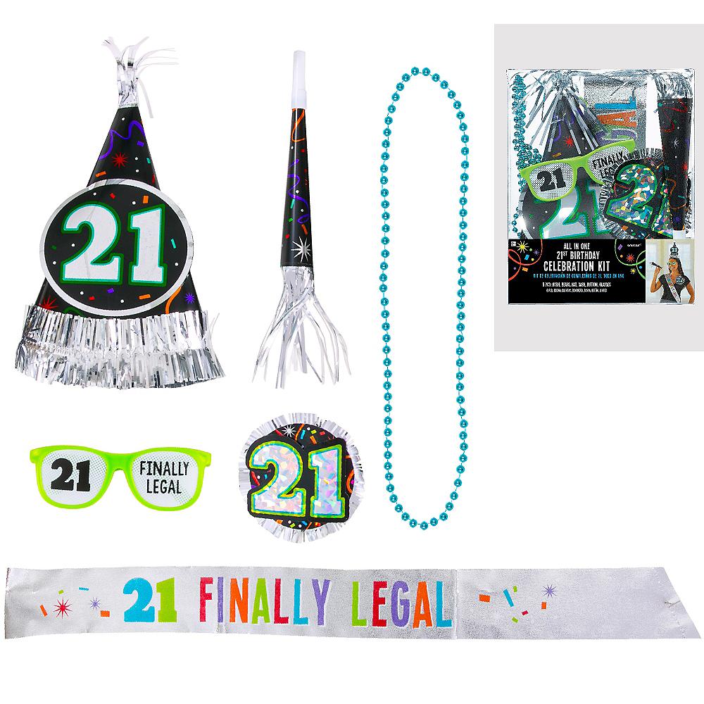 21st Birthday Accessory Kit 6pc Image 1