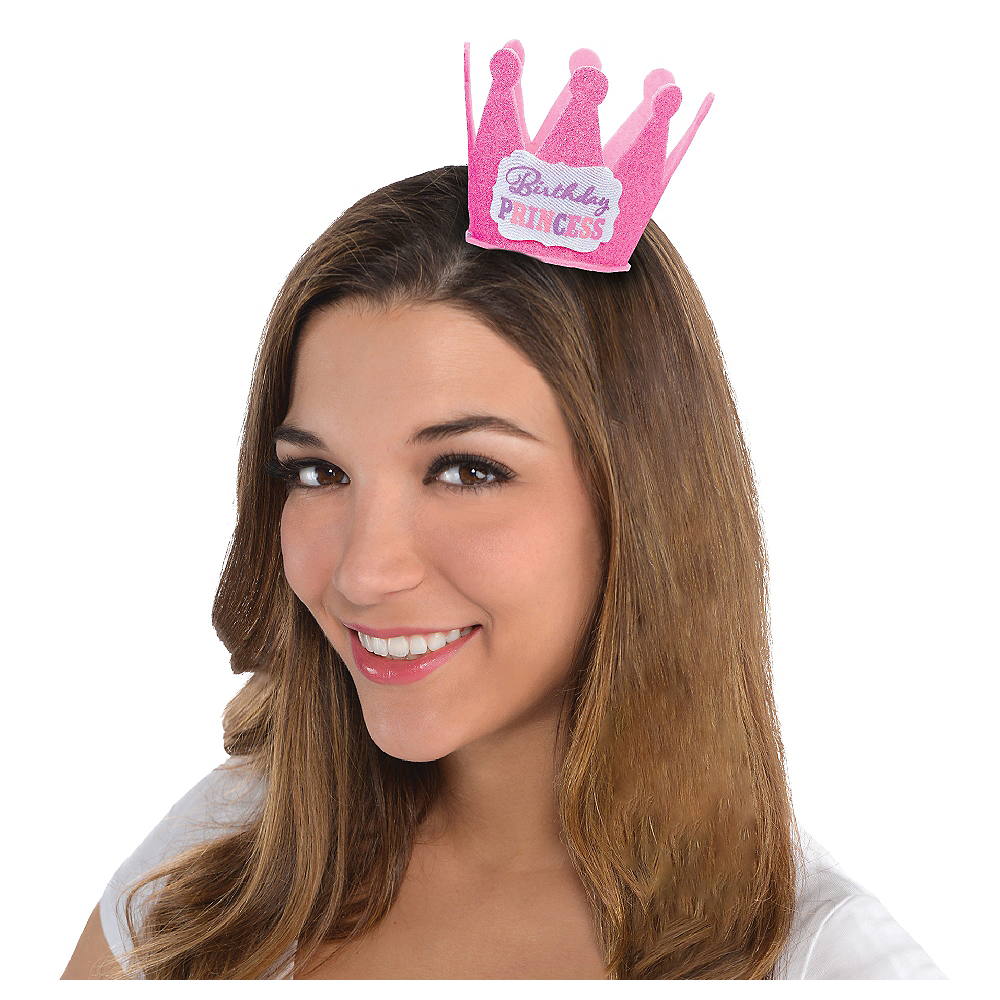 Pink Birthday Princess Mini Crown Image #1