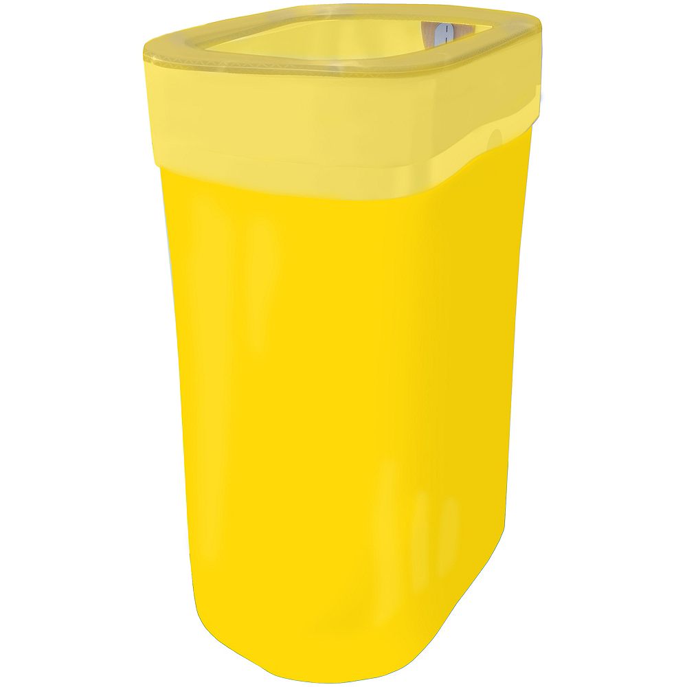 Yellow Pop-Up Trash Bin Image #1