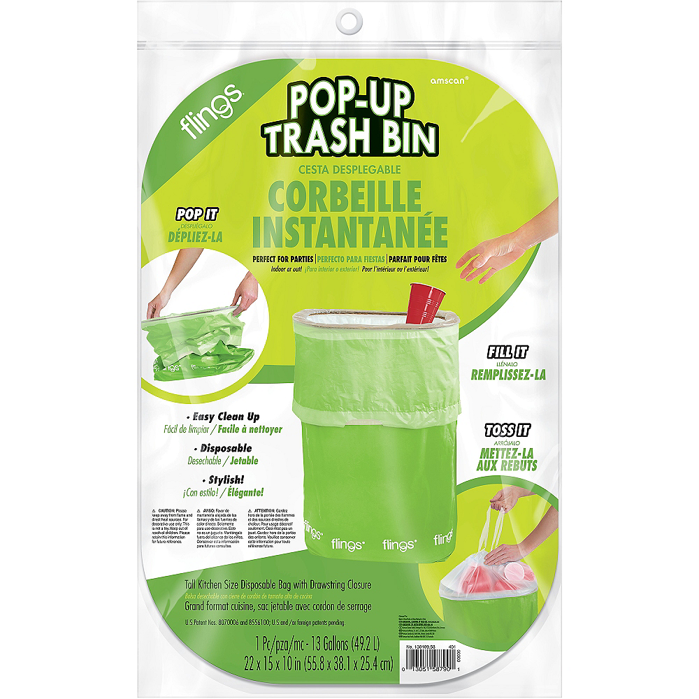 Kiwi Green Pop-Up Trash Bin Image #2
