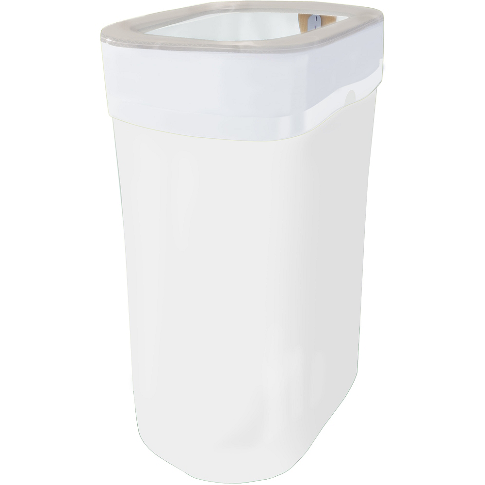 White Pop-Up Trash Bin Image #1