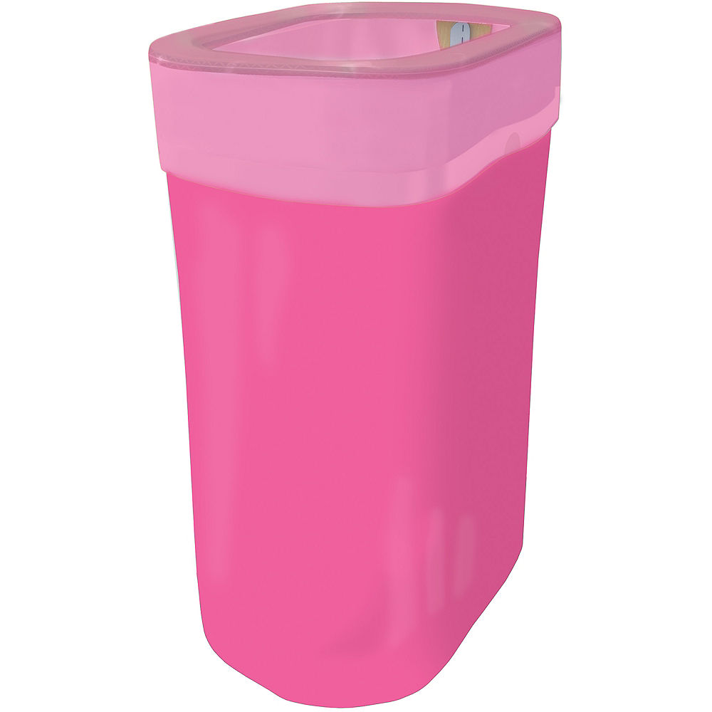 Bright Pink Pop-Up Trash Bin Image #1