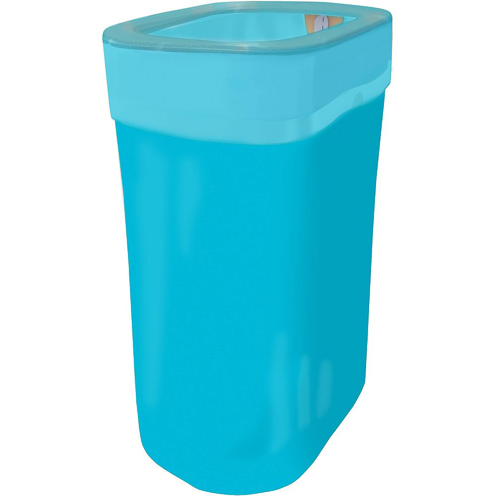 Caribbean Blue Pop-Up Trash Bin Image #1
