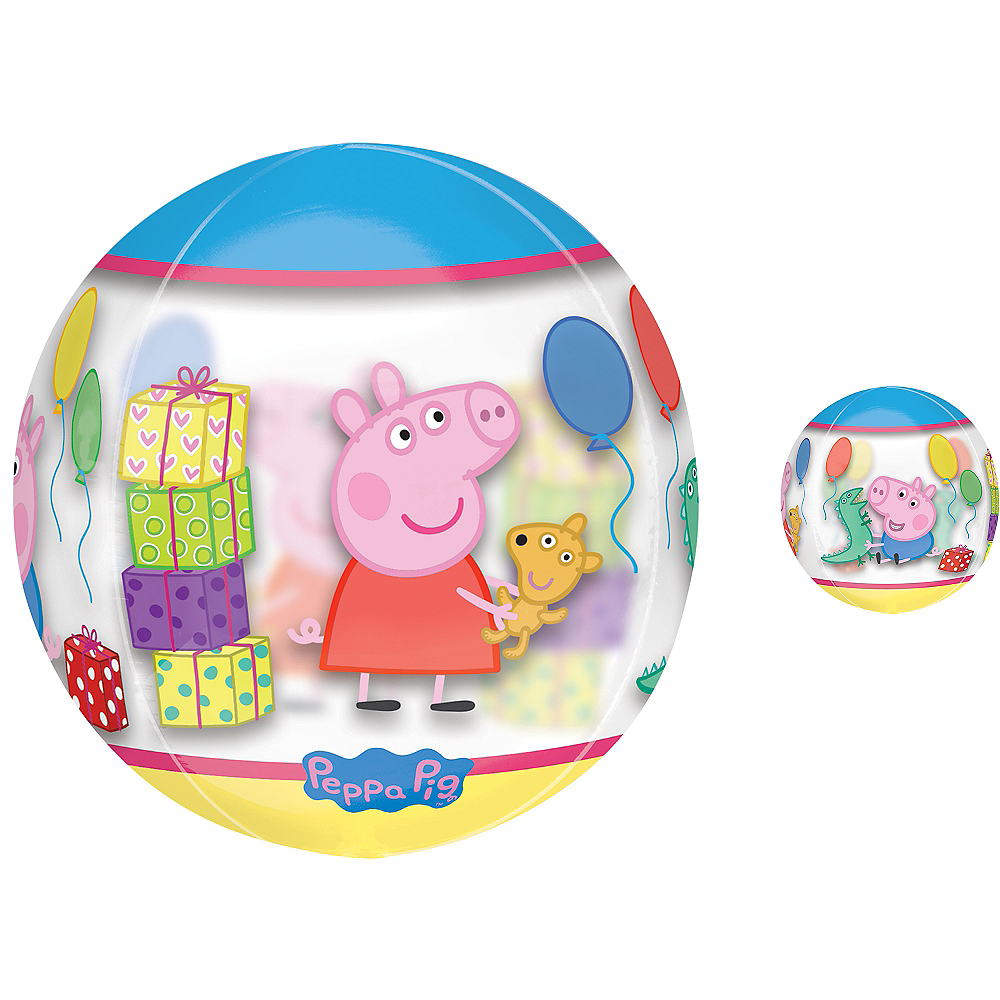 Nav Item for Peppa Pig Balloon - See Thru Orbz Image #1