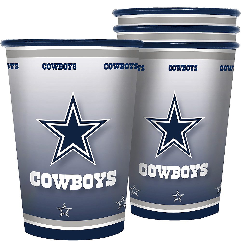 Dallas Cowboys Tumblers 4ct Image #1