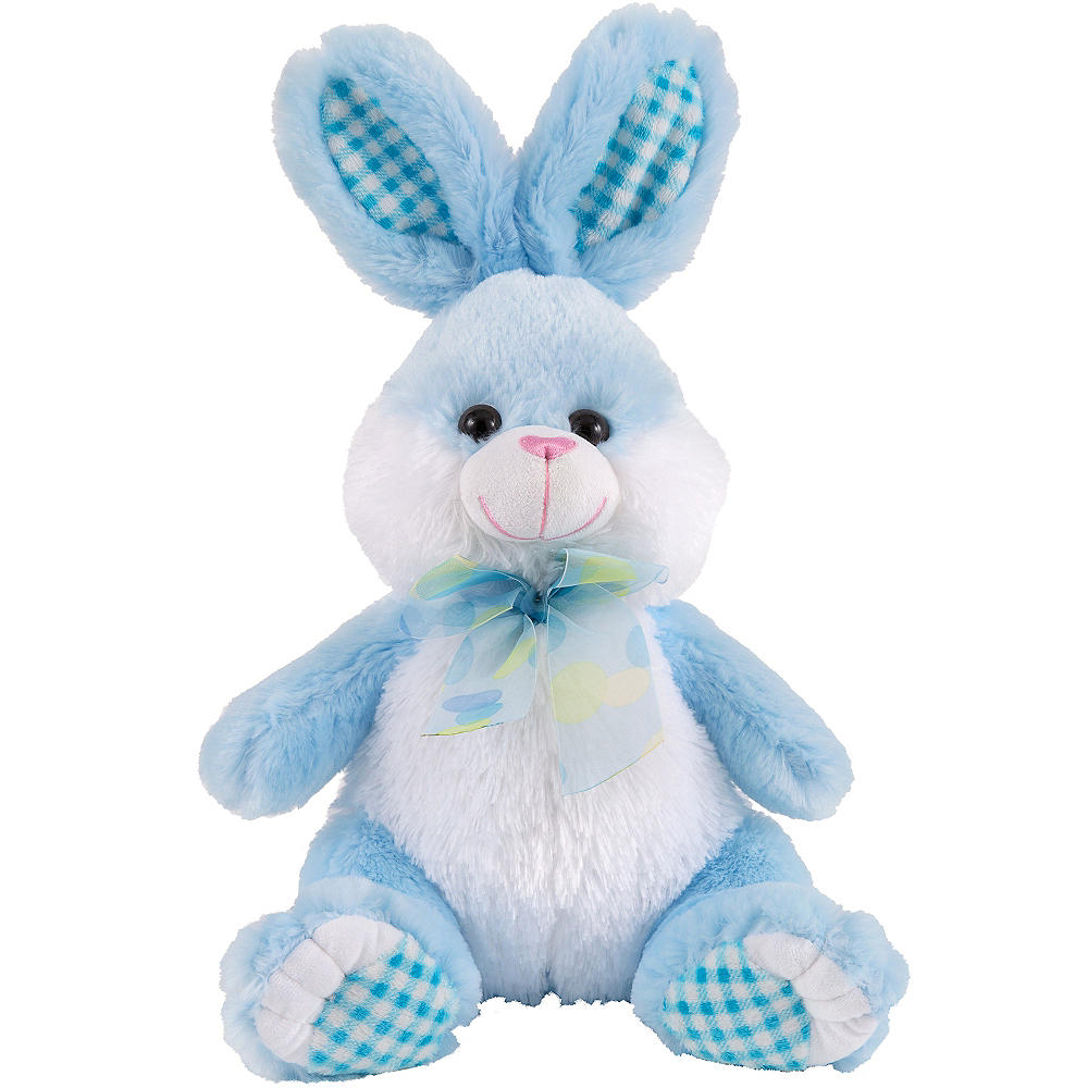 4990ccdfa86fa Polka Dot Bow Blue Easter Bunny Plush 10in x 16in