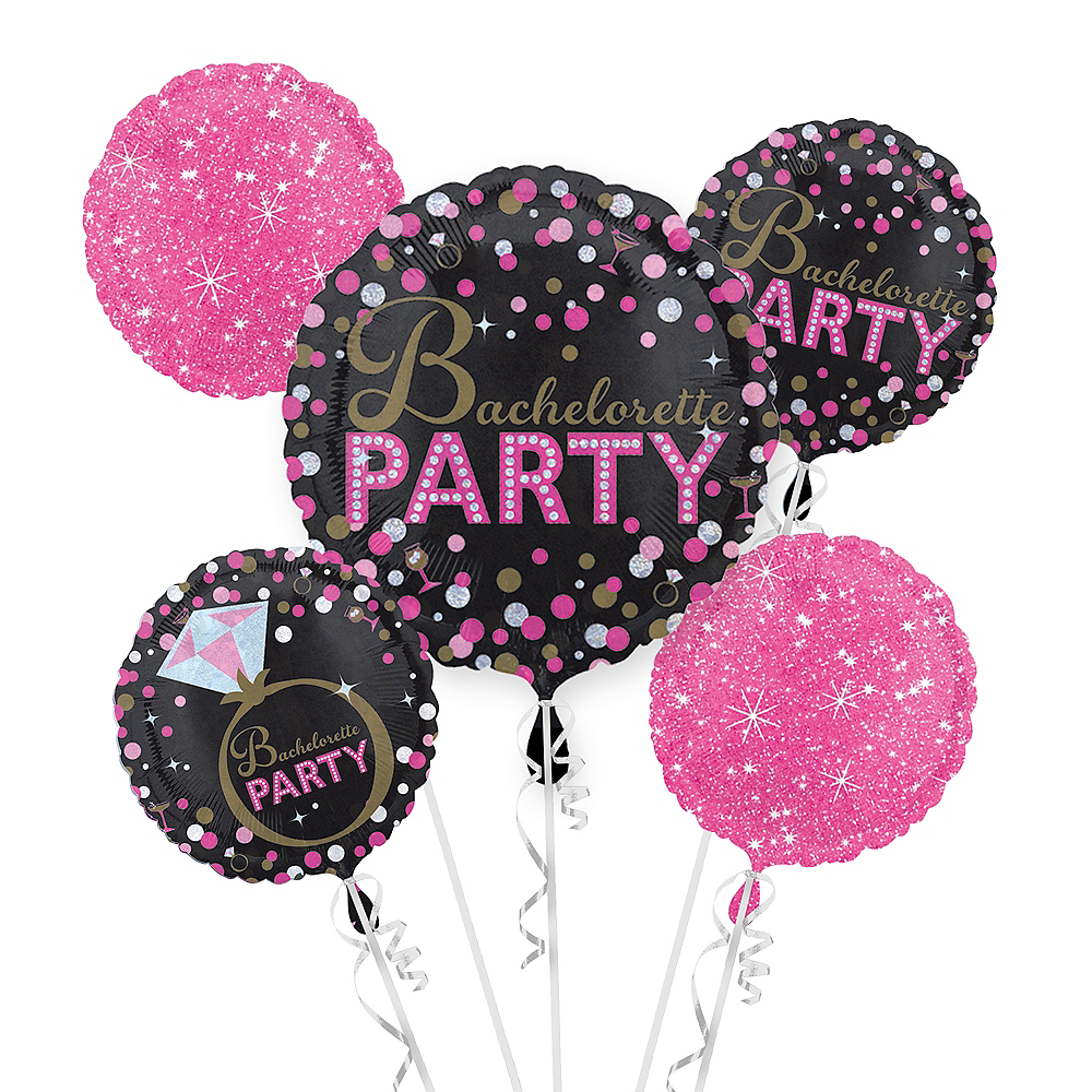 Bachelorette Party Balloon Bouquet 5pc - Sassy Bride Image #1