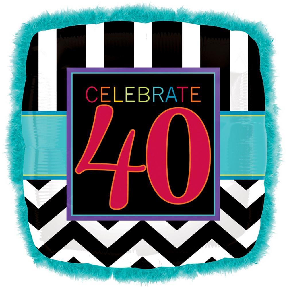 40th Birthday Balloon 32in X 32in