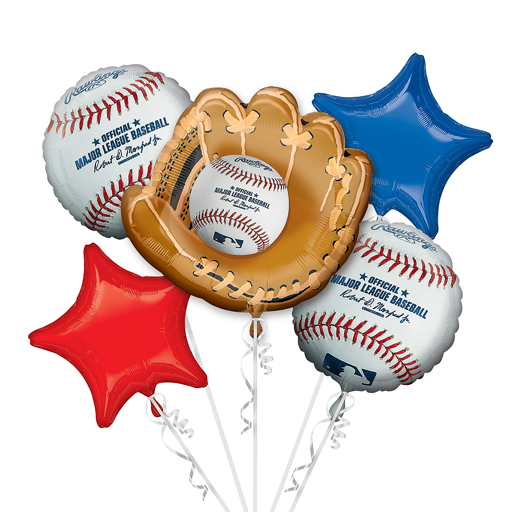 MLB Balloon Bouquet 5pc - Rawlings Image #1