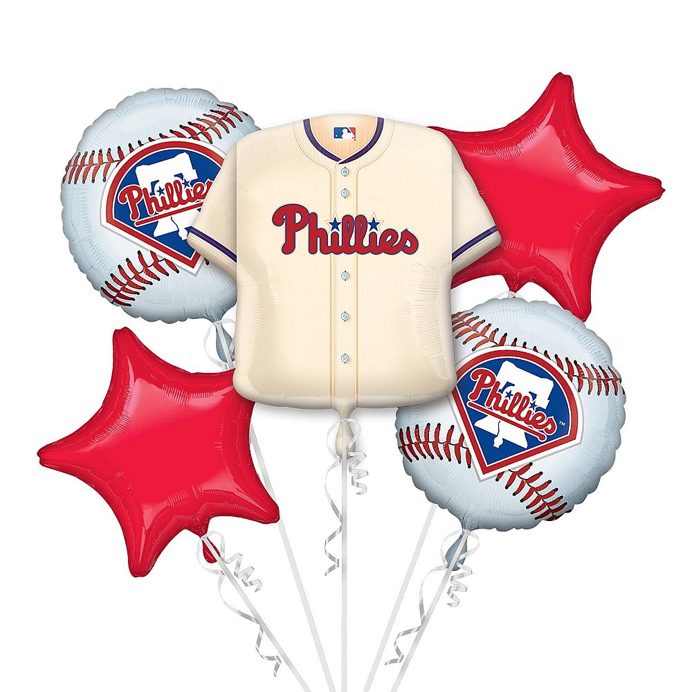 Philadelphia Phillies Balloon Bouquet 5pc - Jersey Image #1