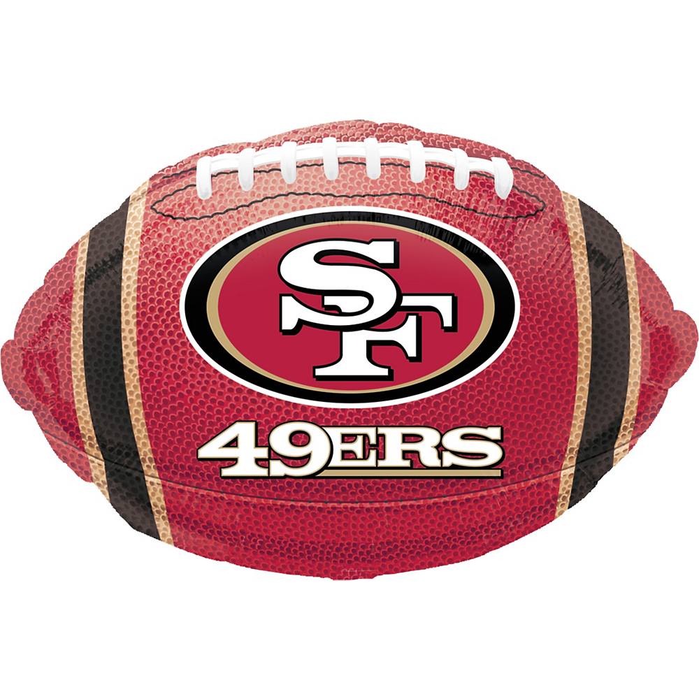 San Francisco 49ers Balloon 17in X 12in Football Party City