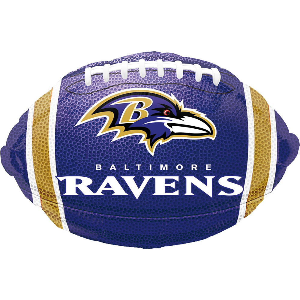 Fine Baltimore Ravens Balloon 17In X 12In Football Party City Birthday Cards Printable Opercafe Filternl
