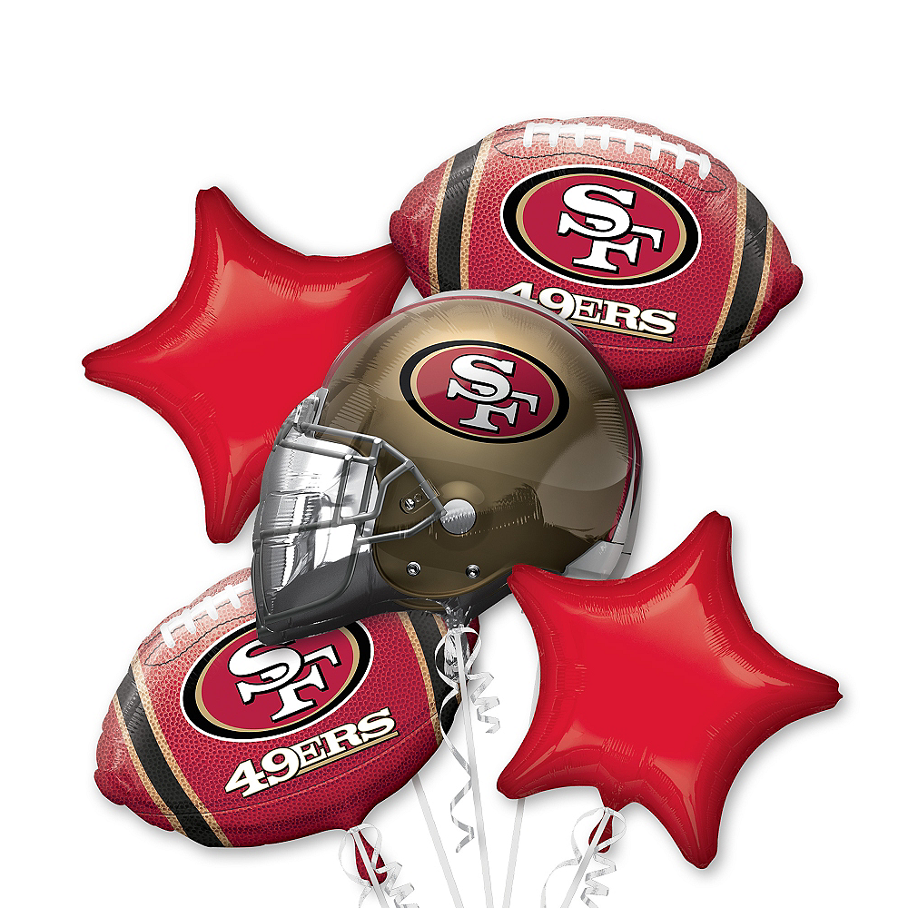 San Francisco 49ers Balloon Bouquet 5pc Image #1