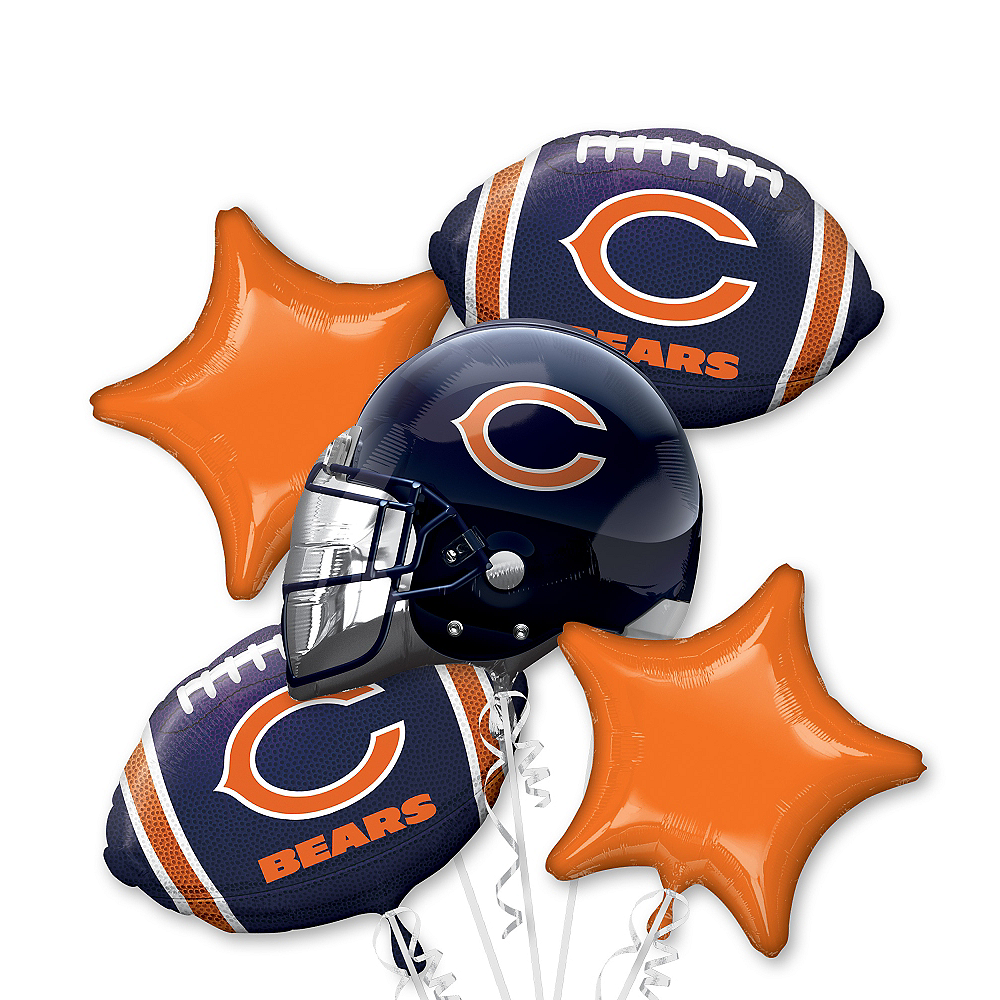 Chicago Bears Balloon Bouquet 5pc Image #1