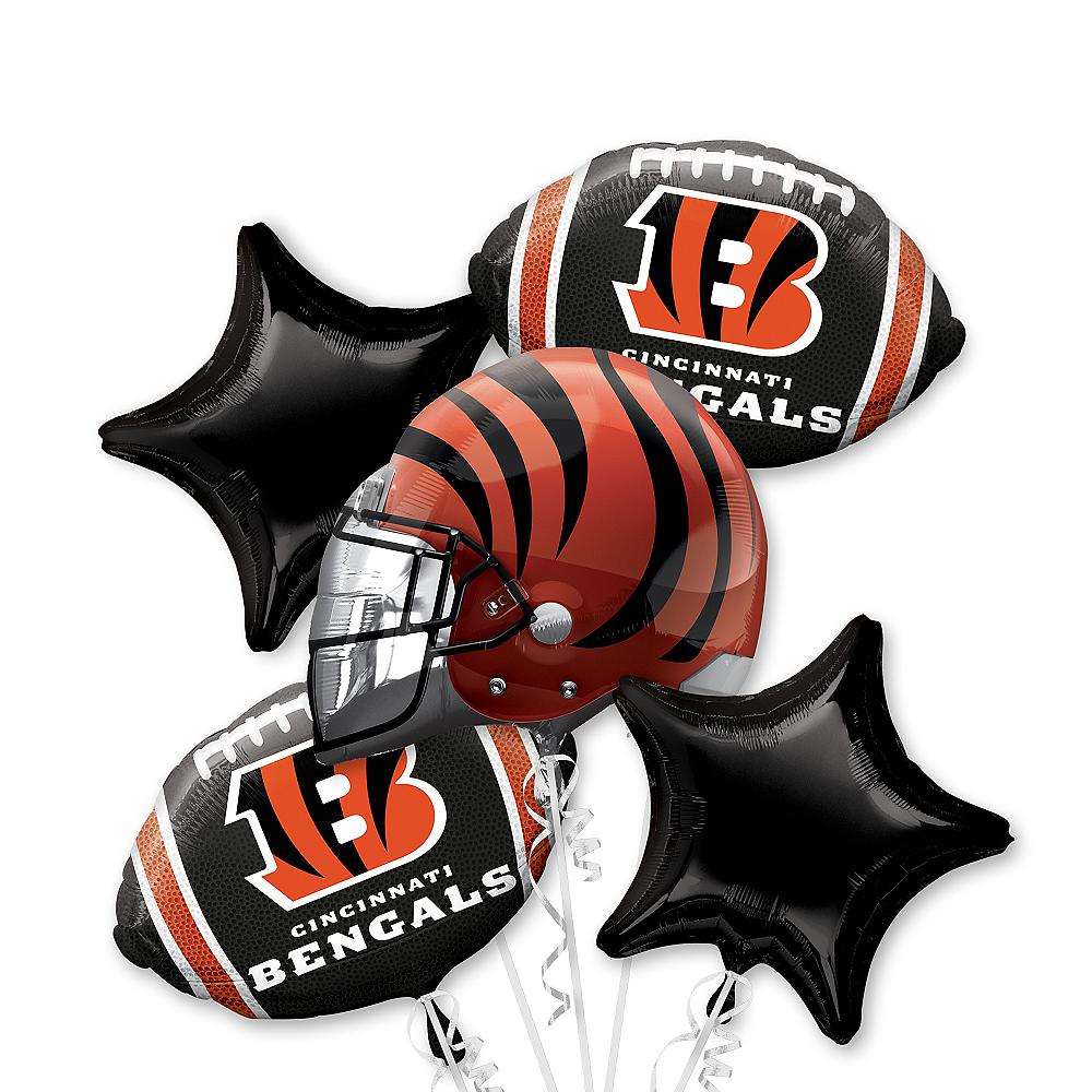 Cincinnati Bengals Balloon Bouquet 5pc Image #1