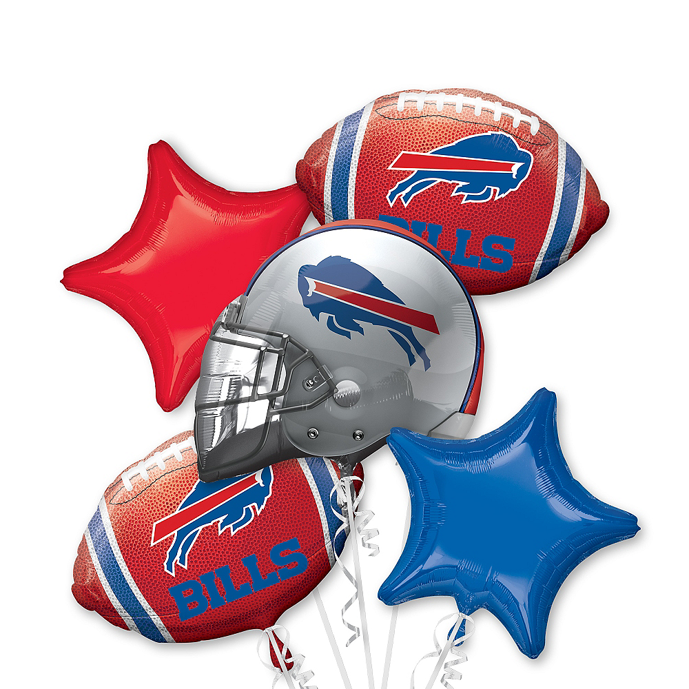 Buffalo Bills Balloon Bouquet 5pc Image #1