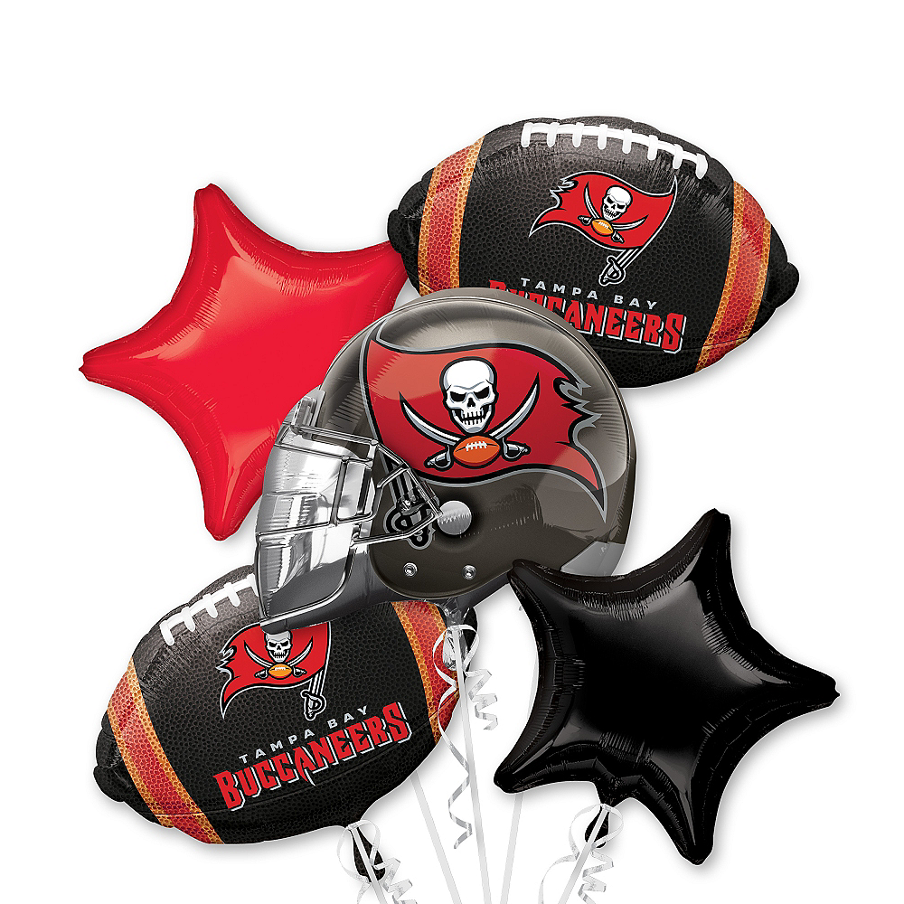 Tampa Bay Buccaneers Balloon Bouquet 5pc Image #1