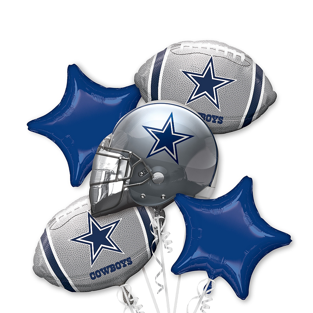 Dallas Cowboys Balloon Bouquet 5pc