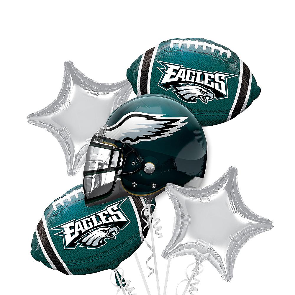 Philadelphia Eagles Balloon Bouquet 5pc Image #1