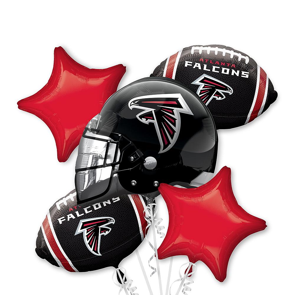 Atlanta Falcons Balloon Bouquet 5pc Image #1