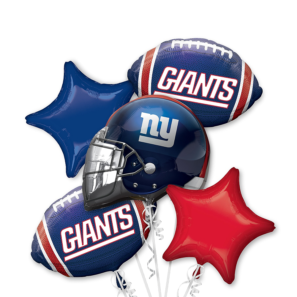 New York Giants Balloon Bouquet 5pc Image #1