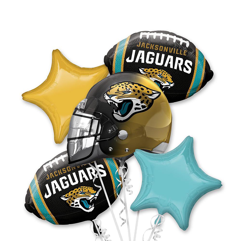 Jacksonville Jaguars Balloon Bouquet 5pc Image #1