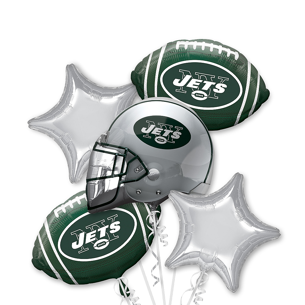 New York Jets Balloon Bouquet 5pc Image #1