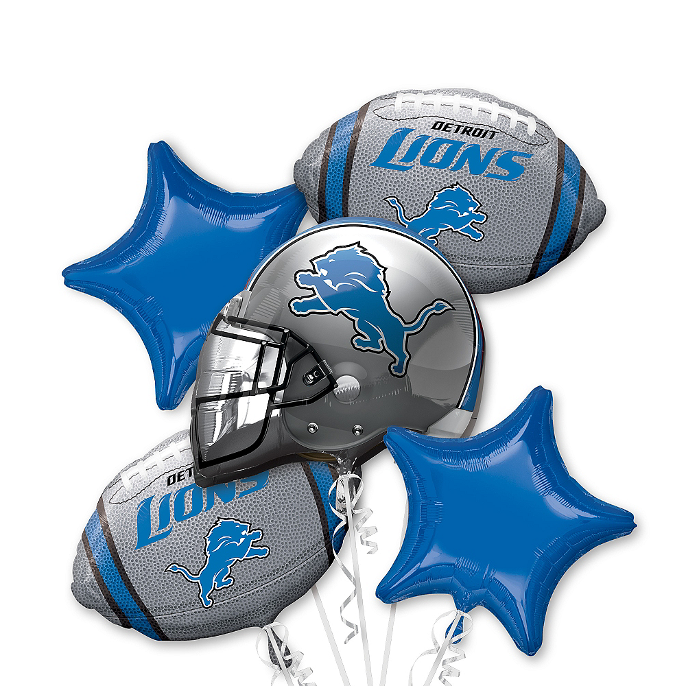 Detroit Lions Balloon Bouquet 5pc Image #1