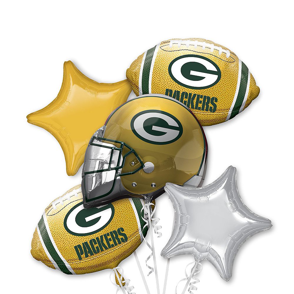 Green Bay Packers Balloon Bouquet 5pc Image #1